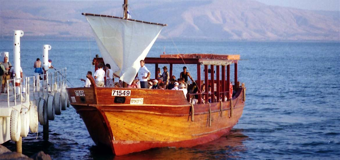 Boat on the Sea of Galilee, Pilgrimage to Holy Land